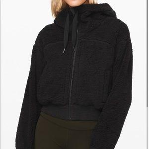 Lululemon reversible Sherpa zip up with hood
